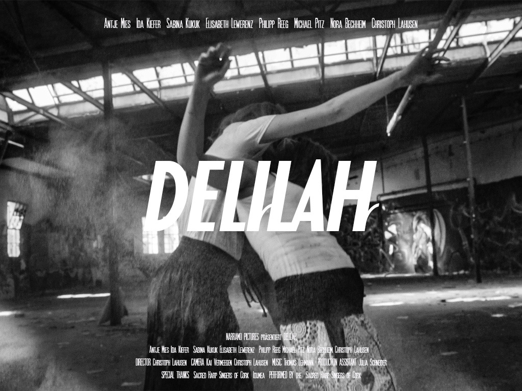 Delilah Filmposter in Black and White