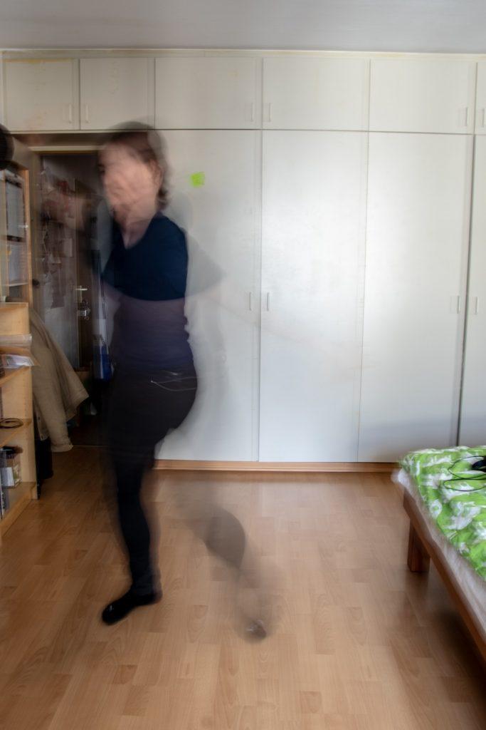 Vanessa tanzt. Langzeitbelichtung.